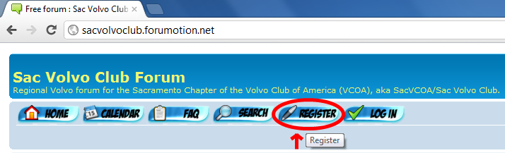 Sac Volvo Club Forum Registration