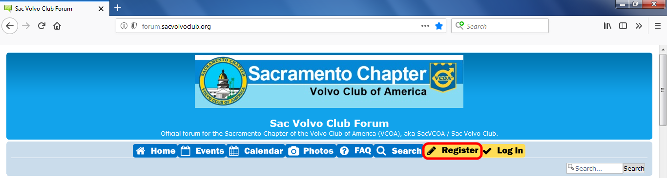 Sac Volvo Club Forum Registration Help Image